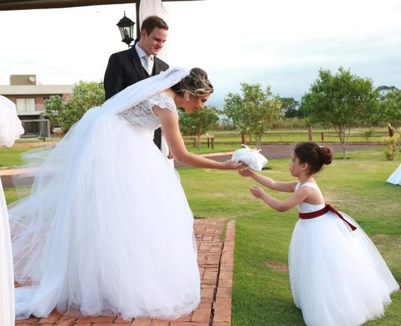 Vestido De Noiva Renda/tule/bordado