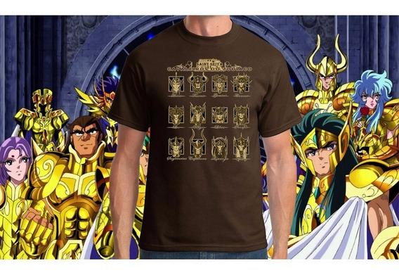 Camiseta Cavaleiros De Ouro Zodiaco Tamanho Especial Xp G1