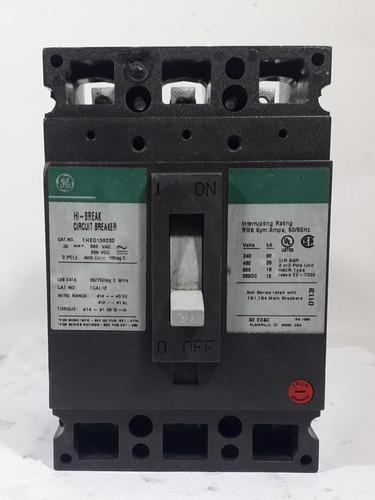 Breaker Totalizador Trifásico General Electric 30 Amp
