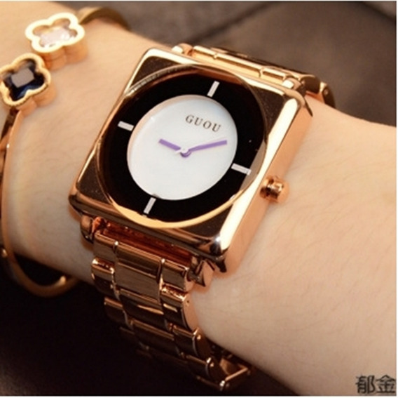 Relógio Feminino De Pulso Guou 8811 Original Promoção Barato