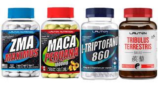 Kit Zma + Maca Peruana + Triptofano + Tribulus Terrestris