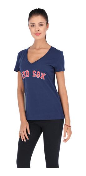 Playera Majestic Mlb Boston Red Sox Mookie Betts Mujer Azul