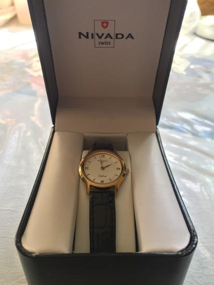 Reloj Nivada Negro De Dama