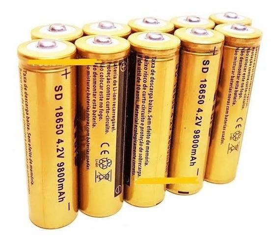 6 Bateria Recarregavel 18650 9800mah 3,7-4.2v