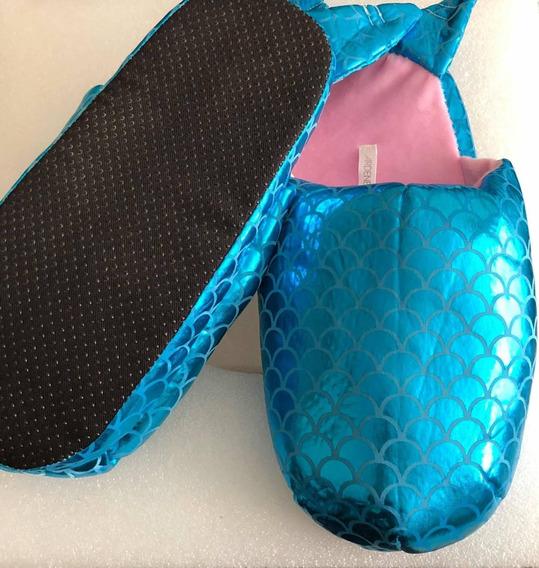 Pantuflas La Sirenita-mermaid -zapato-