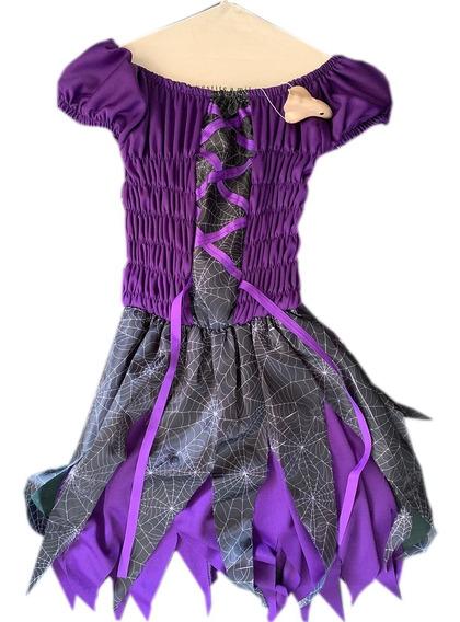 Disfraz Bruja Brujita Araña 5-7 Años