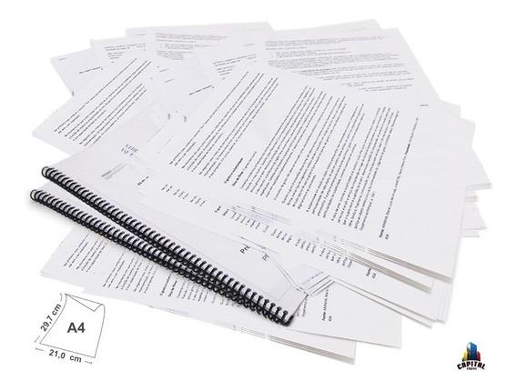 50 Impressão De Apostila Preto E Branco Tcc Manual