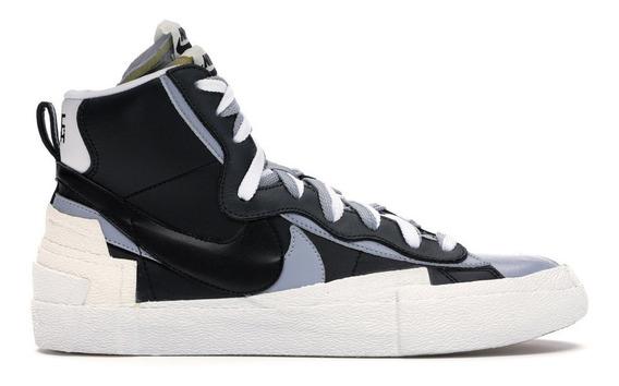 Tenis Nike Blazer Mid Sacai Preto Cinza 41 Ds Hype Off-white