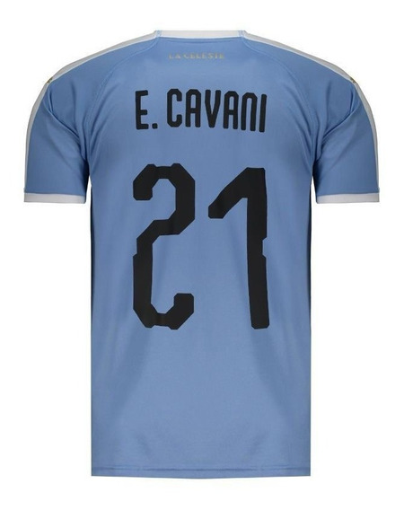 Camisa Puma Uruguai Home 2019 21 E. Cavani