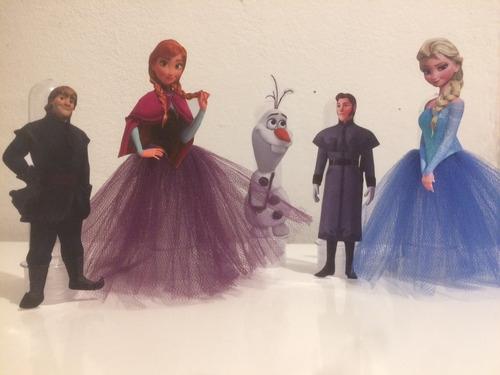 Kit 10 Tubetes Frozen ( Elsa - Ana - Olaf - Kristoff - Hans)