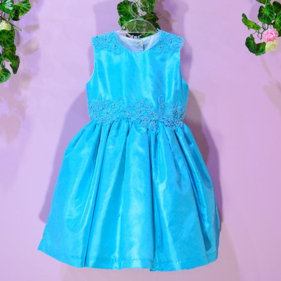 Vestido De Festa Infantil Azul Tiffany (inspiração Frozen)