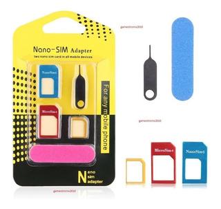 Kit De Adaptadores Tarjeta Sim Nano Micro Llave Lima