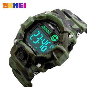 Kit Com 2 Relógio Camuflado Militar A Prova D´água