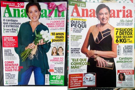 2 Revistas Ana Maria Nº 938 E 1019 Lilia Cabral 2014 2016