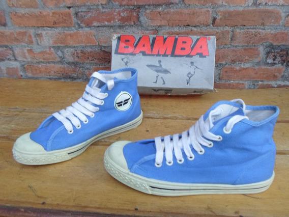 Tenis Bamba Fashion Basket Azul Claro Anos 80 Novo 36 01