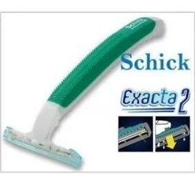 Kit C/50 Aparelho De Barbear Schick Exacta 2 Pele Sensível