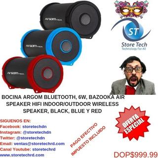 Bocina Argom Bluetooth, 6w, Bazooka Air Speaker Hifi Indoor/