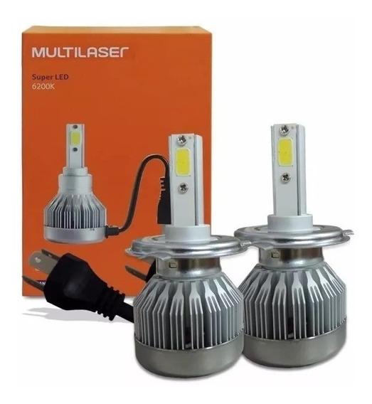 Kit Xenon Led Lampada 6200k Multilaser H1 H3 H4 H7 H8 Hb4