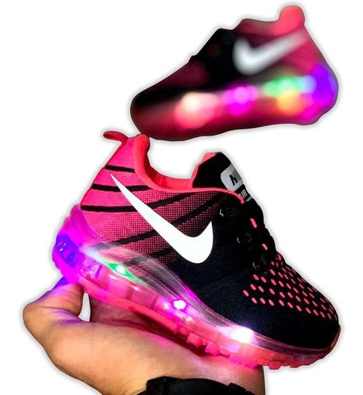 Zapatos Luces Niñas Nike Deportivos Colombianos