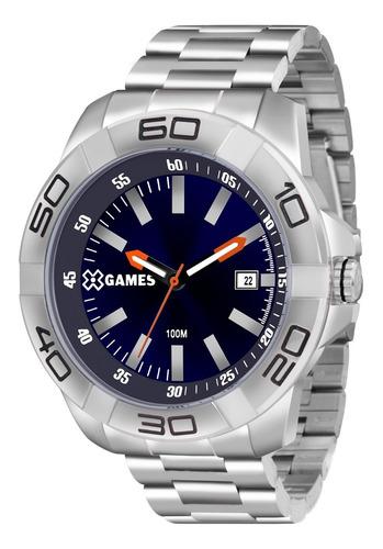 Relógio X-games Masculino Xmss1037 D1sx Azul Analogico