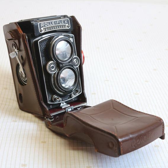 Câmera Rolleiflex 3.5e Zeiss Planar - Funcionando C/ Estojo