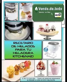Recetario Helados Cremosos Kitchen Aid Heladera