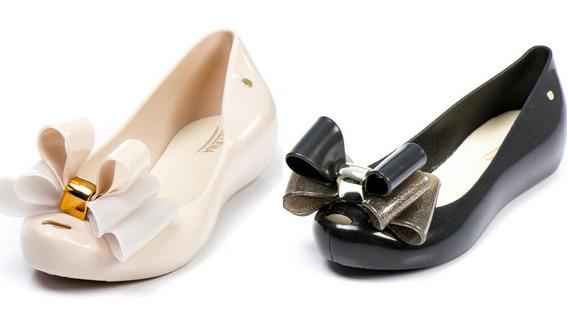 Sapato Sapatilha Feminina Tipo Melissa Kit 2 Pares