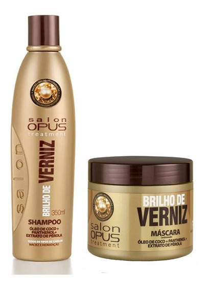 Kit Shampoo E Mascara Brilho De Verniz Salon Opus