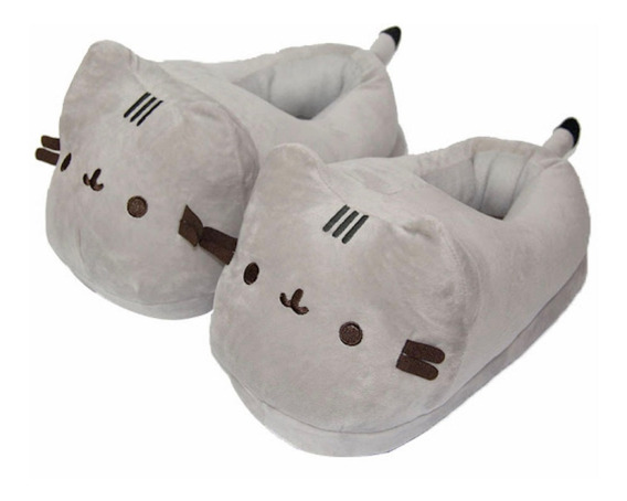 Pantuflas Gato Kawaii Cute Cómodas Adulto Gatito Calientitas