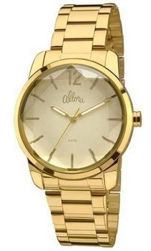 Relógio Fem Allora Flor Da Pele - Dourado