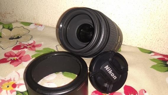 Lente Nikon 55-300 Perfeito Estado E Funcionamento Semi Nova