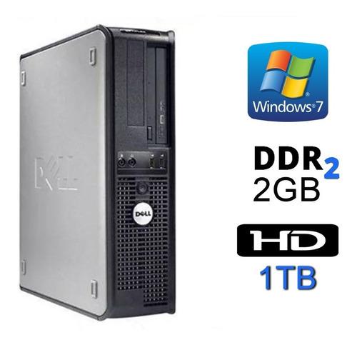 Cpu Dell Optiplex Dual Core / 2gb Ddr2 / Hd 1 Tera Promoção
