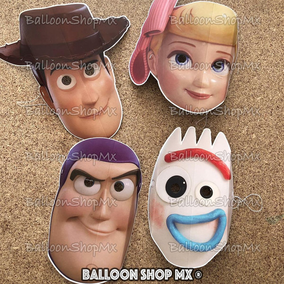 Mascaras Fiesta Toy Story 4 Woody Buzz Forky Betty Piñata