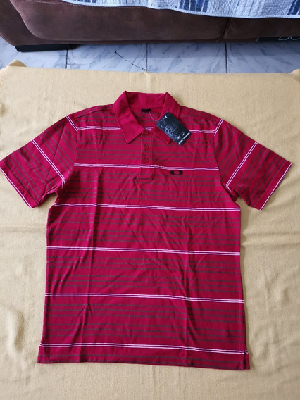 Playera Polo Oakley Shacked Polo Talla Mediana Color Rojo