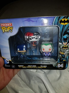 Pocket Pop Batman Harley Quinn The Jocker En Lata Metalica C