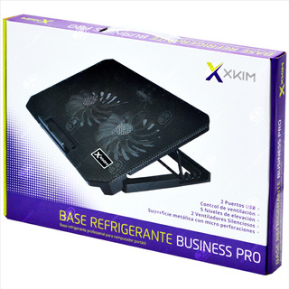 Base Refrigerante Portátil X-kim Pro, 5 Niveles 2 Fans 2 Usb