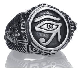 Anel Aço Inox 316l Maciço Illuminati Olho Hip Hop Lxbr A166