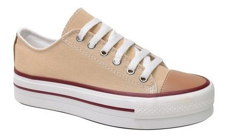 Zapatillas Urbanas Star De Lona Con Plataforma All Fun