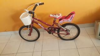 Bicicleta Barbie Para Princesa Rodado 16