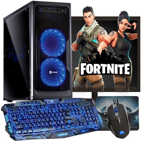 Pc Gamer Completo/ Athlon 200ge/ 8gb/ Radeon/ Jogos Atuais