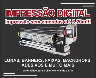 Lona Cartaz Outdoor Frontlight - Impressão Digital M2