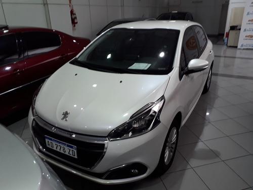 Peugeot 208 Allure 1.6 2019, Concesionario Oficial, Blanco