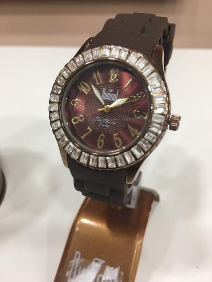 Relógio De Pulso Dumont Sw43008r Marrom Chocolate Feminino