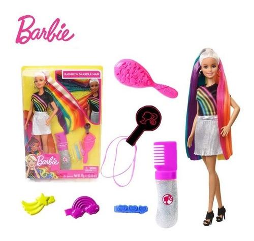 Muñeca Barbie Peinados Arcoiris