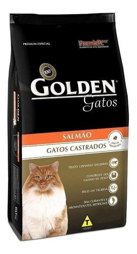 Ração Golden Premium Especial Castrados para gato adulto sabor salmão em saco de 10.1kg