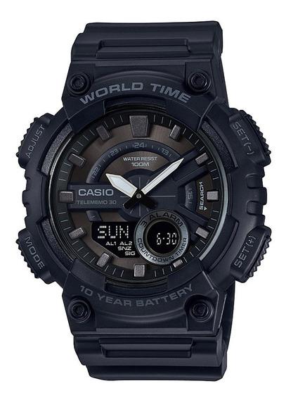 Reloj Casio Aeq-110w-1b Hombre Envio Gratis