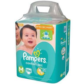 Fralda Pampers Confort Sec Para Bebê Tamanho M G 196u