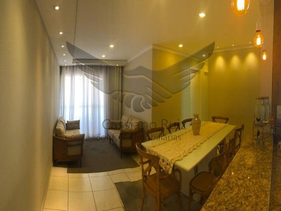 Apartamento - Residencial Winner - Além Ponte - Sorocaba - Todo Lindo E Pronto Para Morar! - 03 Dormitórios - 01 Suíte - Sala 2 Ambientes - 02 Vagas - Ap00327 - 34909013