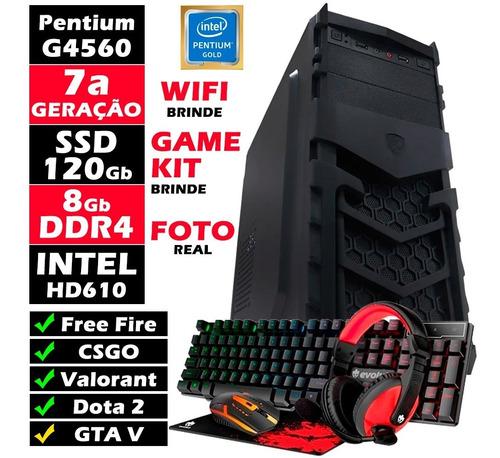 Pc Gamer Novo G4560 3.5ghz 8gb Ddr4 Ssd 128gb Freefire Csgo