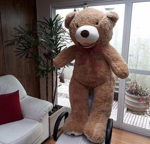 Imagem 1 de 9 de Urso De Pelúcia Grande Creme 150cm + Enchimento Frete Grátis